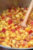 Making nectarine jam Royalty Free Stock Photography