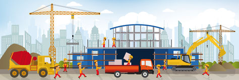Making the new building (shopping center) Royalty Free Stock Images