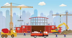 Making the new building (shopping center) Stock Image