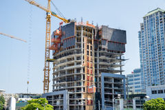 Making a new building. New building under construction in the city Stock Image