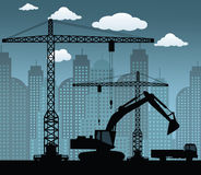 Making the new building Stock Image