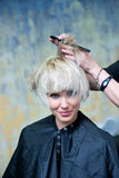 Making new hairstyle Stock Photography