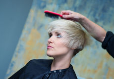 Making new hairstyle Royalty Free Stock Photography