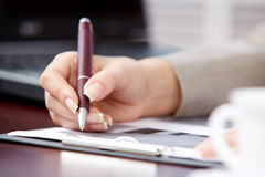 Making notes Royalty Free Stock Images