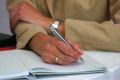Making notes royalty free stock photography