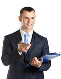 Making notes businessman Royalty Free Stock Images