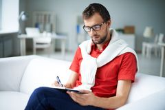 Making notes Royalty Free Stock Image