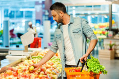 Making nutritional choice. Stock Photo