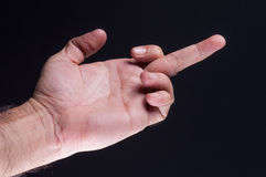 Making offensive (rude) gesture Stock Image