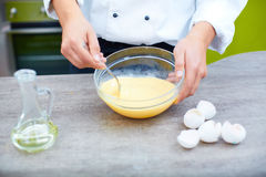 Making an omelet Stock Images