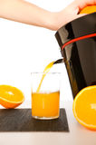 Making orange juice Royalty Free Stock Photos