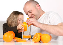 Making Orange Juice Royalty Free Stock Image