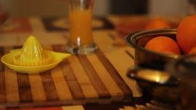Making Orange Juice Fresh stock video