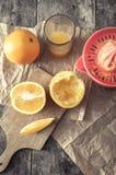 Making orange juice Stock Images