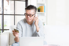 Making order by phone Stock Image