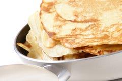 Making pancake Stock Image