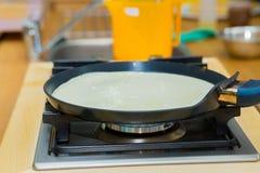 Making pancake Royalty Free Stock Image