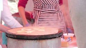 Making of pancake stock video