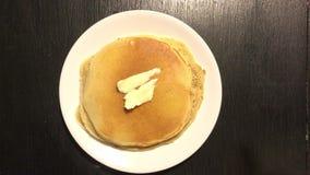 Making Pancakes for Breakfast stock video
