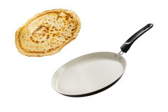 Making Pancakes Stock Photography