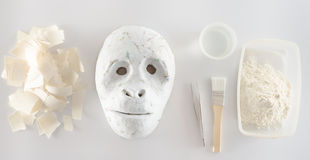 Making paper mache Royalty Free Stock Photo