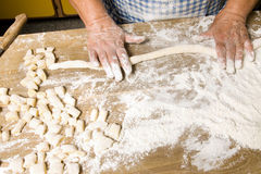 Making pasta stock photography
