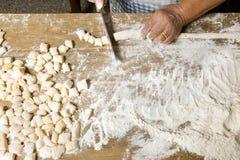 Making pasta Royalty Free Stock Photos