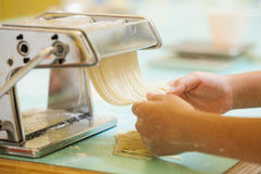 Making pasta Royalty Free Stock Image