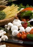 Making Pasta 3. All the fresh ingredients for making great pasta Royalty Free Stock Photography