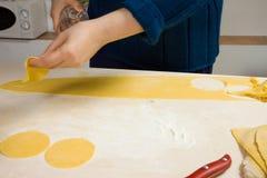 Making pasta Royalty Free Stock Photography