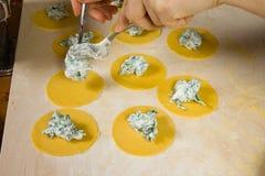 Making pasta Royalty Free Stock Photo