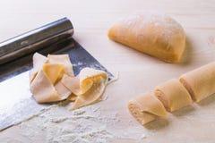 Making of pasta Royalty Free Stock Photos