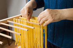 Making pasta Royalty Free Stock Photo