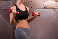 Making perfect biceps. Stock Images
