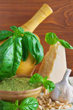 Making Pesto Sauce Stock Image