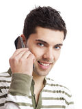Making a phone call Stock Images