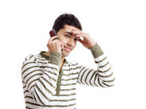 Making a phone call Royalty Free Stock Photo