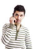 Making a phone call Stock Image