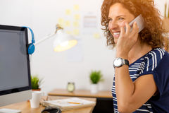 Making a phone call Royalty Free Stock Image