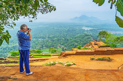 Making pictures in Sigiriya Royalty Free Stock Photography