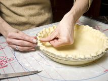 Making a Pie Crust Royalty Free Stock Images