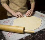 Making a Pie Crust Royalty Free Stock Image