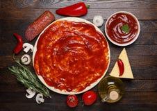 Making pizza Stock Image