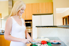 Making Pizza Royalty Free Stock Image
