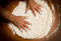 Making pizza Stock Photography