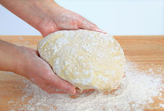 Making pizza dough Stock Image