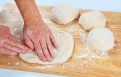 Making pizza dough Royalty Free Stock Photography