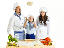 Making pizza Royalty Free Stock Photos