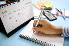 Making a plan royalty free stock photography