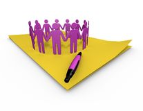 Making plans 3d illustration with paper sheets Royalty Free Stock Image